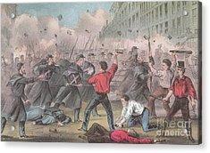 Pratt Street Riot, 1861 Acrylic Print by Photo Researchers