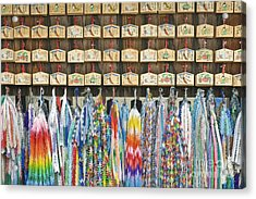 Prayer Plaques & Origami Cranes Acrylic Print by Rob Tilley
