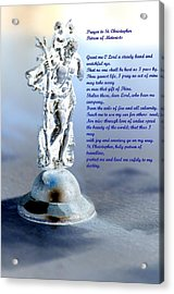 Prayer To St Christopher Acrylic Print by Maria Urso