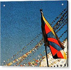 Prayers For Tibet Acrylic Print by First Star Art