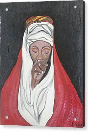 Praying Woman-oil Painting Acrylic Print by Rejeena Niaz