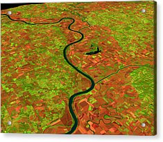 Pre-flood Missouri River Acrylic Print by Nasagoddard Space Flight Center
