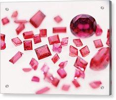 Precious Gemstones Acrylic Print by Lawrence Lawry