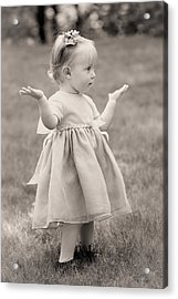 Precious Vintage Girl In Dress Acrylic Print