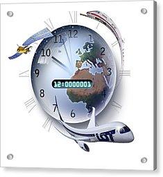 Precision Timing, Conceptual Artwork Acrylic Print by Smetek