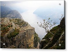 Preikestolen And Lysefjord, Rogaland, Norway Acrylic Print by Anjci (c) All Rights Reserved