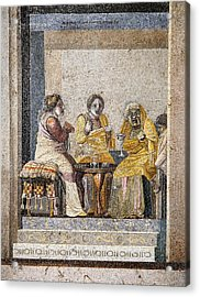 Preparing A Love Potion, Roman Mosaic Acrylic Print by Sheila Terry
