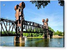 Prescott Lift Bridge Acrylic Print by Kristin Elmquist