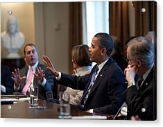 President And House Minority Leader Acrylic Print by Everett