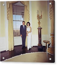 President And Jacqueline Kennedy Acrylic Print by Everett