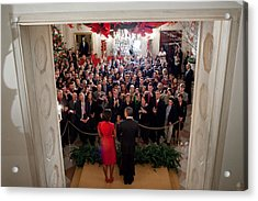 President And Michelle Obama Address Acrylic Print by Everett