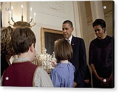 President And Michelle Obama Watch Acrylic Print by Everett