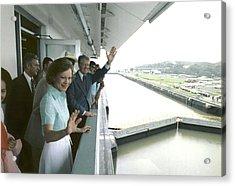 President And Rosalynn Carter Visit One Acrylic Print by Everett