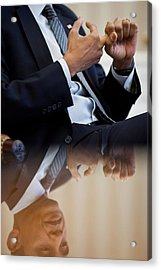 President Barack Obama Gestures Acrylic Print by Everett