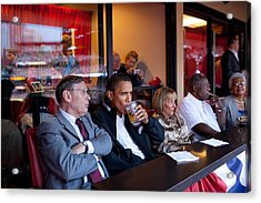 President Barack Obama Watches The 2009 Acrylic Print