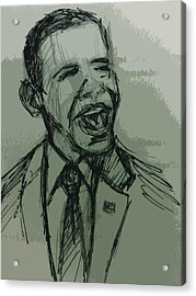 President Barack Obama Acrylic Print by William Winkfield