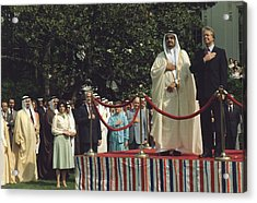 President Carter And Prince Fahd Bin Acrylic Print by Everett