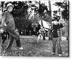 President Eisenhower Adds A Little Body Acrylic Print by Everett