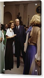 President Ford And First Lady Betty Acrylic Print by Everett