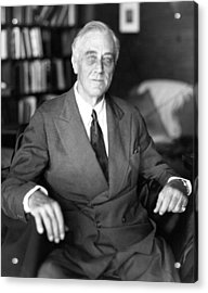 President Franklin Roosevelt The Day Acrylic Print by Everett