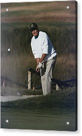 President George Bush Plays Golf Acrylic Print by Everett