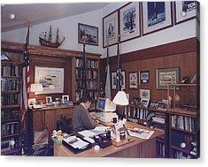 President George Bush Works Acrylic Print by Everett