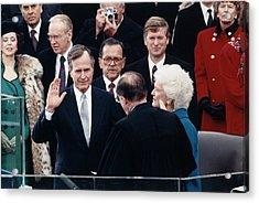 President George Herbert Walker Bush Acrylic Print by Everett