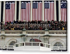 President George W. Bush Makes Acrylic Print by Stocktrek Images