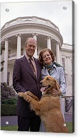 President Gerald Ford And Wife Betty Acrylic Print by Everett
