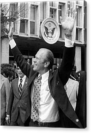 President Gerald Ford Leaves The Us Acrylic Print by Everett