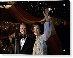 President Jimmy Carter And First Lady Acrylic Print by Everett