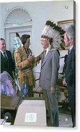President Jimmy Carter Wearing Acrylic Print by Everett