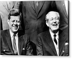 President John Kennedy And British Acrylic Print by Everett