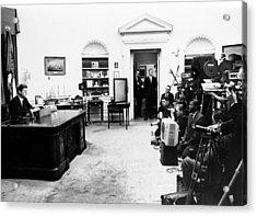 President John Kennedy Television Acrylic Print by Everett
