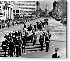 President Kennedy�s Flag-draped Coffin Acrylic Print