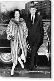 President Lyndon And Lady Bird Johnson Acrylic Print by Everett