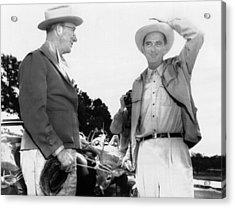 President Lyndon Johnson Entertains Acrylic Print by Everett