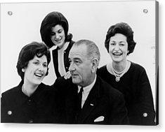President Lyndon Johnson Family Acrylic Print by Everett