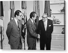 President Nixon With Attorney-general Acrylic Print by Everett