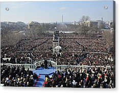 President Obama Delivers His Inaugural Acrylic Print by Everett