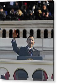 President Obama Gestures As He Delivers Acrylic Print by Everett