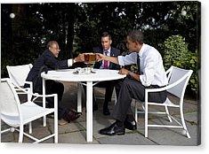President Obama Professor Henry Louis Acrylic Print by Everett