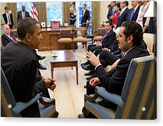 President Obama Reaffirmed Us Acrylic Print by Everett