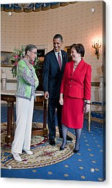 President Obama Visits With Justice Acrylic Print by Everett
