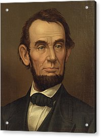 Acrylic Print featuring the photograph President Of The United States Of America - Abraham Lincoln  by International  Images