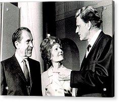 President Richard M. Nixon & First Lady Acrylic Print by Everett