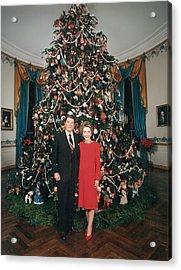 President Ronald Reagan, First Lady Acrylic Print by Everett
