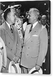 President Truman And James Pendergast Acrylic Print by Everett