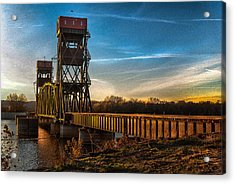 Preston'strain Bridge Acrylic Print by Kimberleigh Ladd