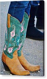 Pretty Boots Acrylic Print by Lynda Dawson-Youngclaus